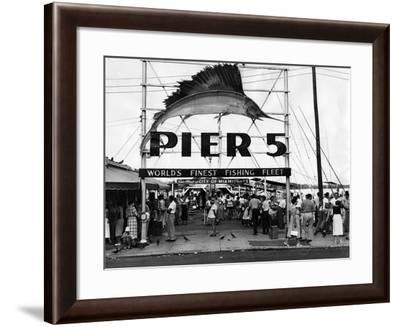 Pier 5 in Bayfront Park, Miami, 1930S--Framed Photographic Print