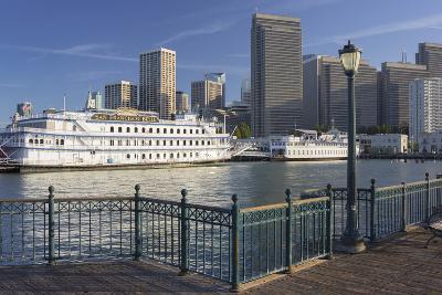 Pier 7, Paddlesteamer, Financial District, San Francisco, California, Usa-Rainer Mirau-Photographic Print