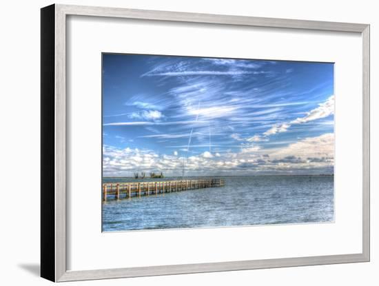Pier and Island-Robert Goldwitz-Framed Premium Photographic Print