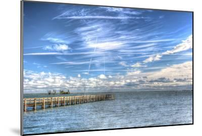 Pier and Island-Robert Goldwitz-Mounted Premium Photographic Print