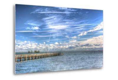Pier and Island-Robert Goldwitz-Metal Print