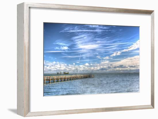 Pier and Island-Robert Goldwitz-Framed Photographic Print