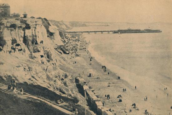 'Pier and Sands from Dudley Chine (Boscombe Pier in distance)', 1929-Unknown-Giclee Print