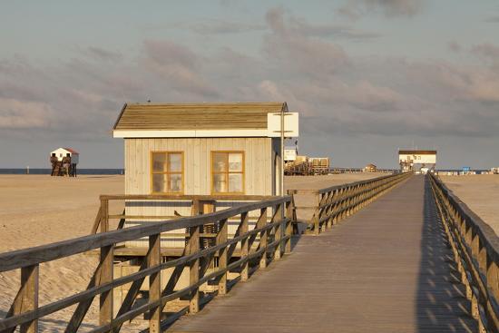 Pier and Sandy Beach-Markus Lange-Photographic Print