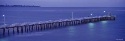 Pier at Dusk, Point Lonsdale, Geelong, Victoria, Australia--Photographic Print