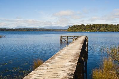 Pier at Lake Mahinapua, West Coast, South Island, New Zealand, Pacific-Matthew Williams-Ellis-Photographic Print