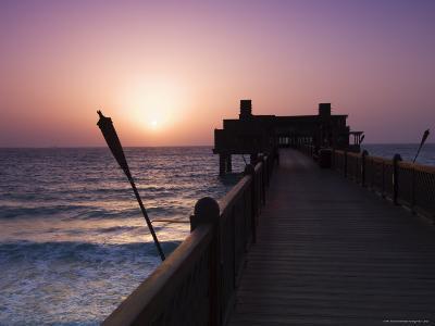 Pier at Madinat Jumeirah Hotel, Dubai, United Arab Emirates, Middle East-Amanda Hall-Photographic Print