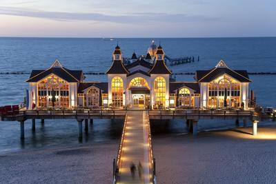 Pier at Sellin, Rugen Island, Mecklenburg-Vorpommern, Germany-Peter Adams-Photographic Print