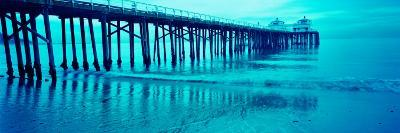 Pier at Sunset, Malibu Pier, Malibu, Los Angeles County, California, USA--Photographic Print