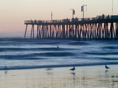 Pier at Sunset, Pismo Beach, California-Brent Winebrenner-Photographic Print