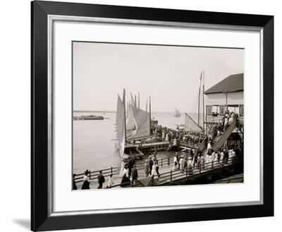 Pier at the Inlet, Atlantic City, N.J.--Framed Photo