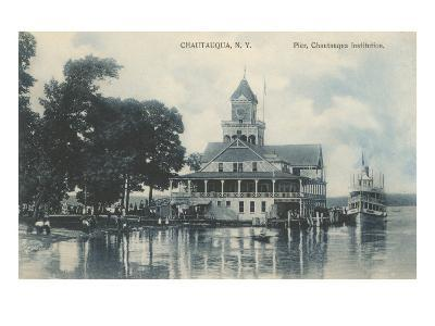 Pier, Chautauqua, New York--Art Print