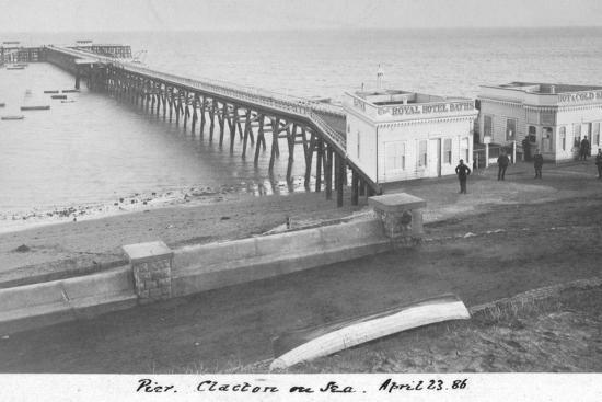 'Pier Clacton on Sea, April 23 1886'-Unknown-Photographic Print