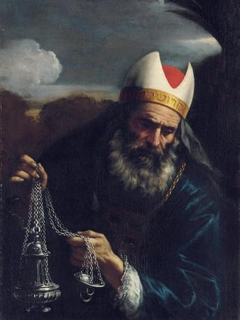 Aaron, High Priest of the Israelites, Holding a Censer