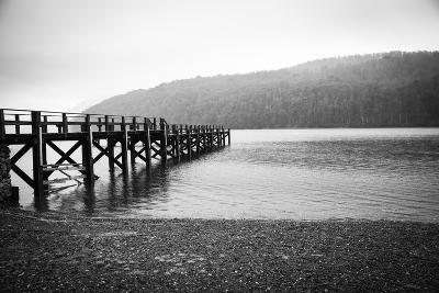 Pier in A Foggy Lake-paiphoto-Photographic Print