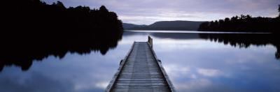Pier in a Lake, Lake Mapourika, South Island, New Zealand