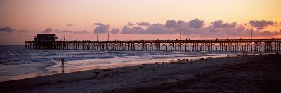 Pier in an Ocean, Newport Pier, Newport Beach, Orange County, California, USA--Photographic Print