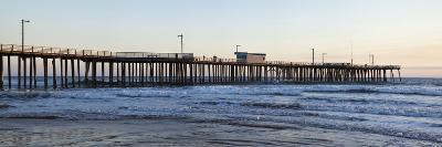 Pier in an Ocean, Pismo Beach Pier, Pismo Beach, San Luis Obispo County, California, USA--Photographic Print