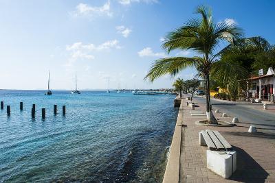 Pier in Kralendijk Capital of Bonaire, ABC Islands, Netherlands Antilles, Caribbean-Michael Runkel-Photographic Print