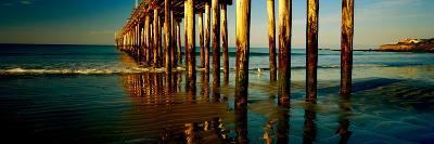 Pier in the Pacific Ocean, Cayucos Pier, Cayucos, California, Usa--Photographic Print