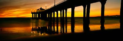 Pier in the Pacific Ocean--Photographic Print