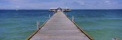 Pier in the Sea, Anna Maria City Pier, Anna Maria, Anna Maria Island, Manatee, Florida, USA--Photographic Print