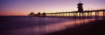 Pier in the Sea, Huntington Beach Pier, Huntington Beach, Orange County, California, USA--Photographic Print