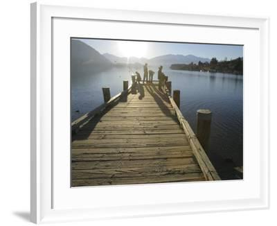 Pier, Lake Wanaka, South Island, New Zealand-Douglas Peebles-Framed Photographic Print