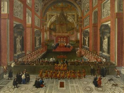 Benedict XIII Presiding over the Provincial Roman Synod of 1725, Basilica of St. John Lateran, 1725