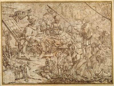 Polcinello Invalided with Gout by Pier Leone Ghezzi