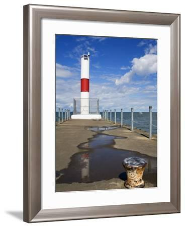Pier Lighthouse, Rochester, New York State, United States of America, North America-Richard Cummins-Framed Photographic Print