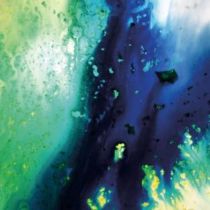 Blue and Green Flowing Abstract, c. 2008 by Pier Mahieu