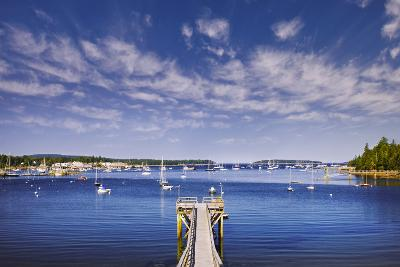 Pier near Southwest Harbor-Jon Hicks-Photographic Print