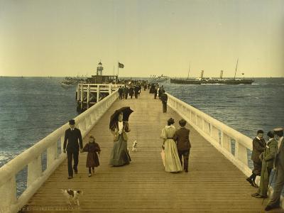 Pier, Ostend, Belgium, C.1890-C.1900--Giclee Print