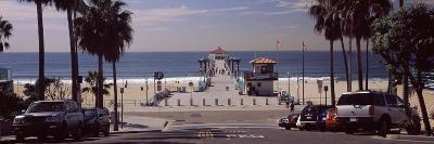 Pier over an Ocean, Manhattan Beach Pier, Manhattan Beach, Los Angeles County, California, USA--Photographic Print