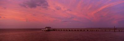 Pier over the Sea, Bokeelia Pier, Bokeelia, Pine Island, Florida, USA--Photographic Print