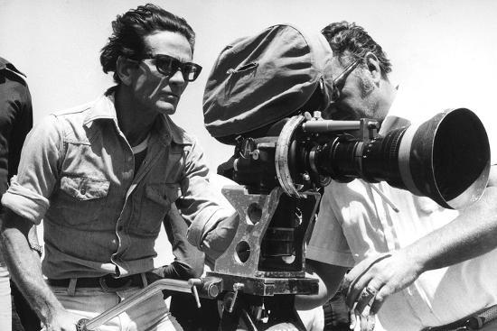 Pier Paolo Pasolini with a Camera--Photographic Print