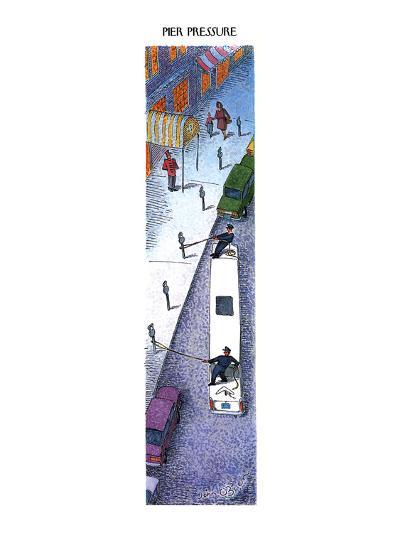 PIER PRESSURE - New Yorker Cartoon-John O'brien-Premium Giclee Print