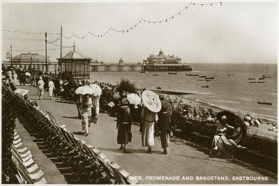 Pier, Promenade and Bandstand, Eastbourne, Sussex, C1920S--Giclee Print