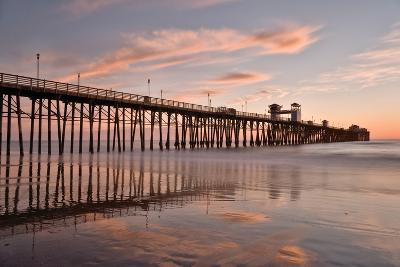 Pier Sunset 1-Lee Peterson-Photographic Print