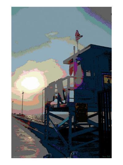 Pier, Venice Beach, California-Steve Ash-Giclee Print