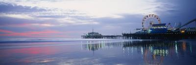 Pier with a Ferris Wheel, Santa Monica Pier, Santa Monica, California, USA--Photographic Print
