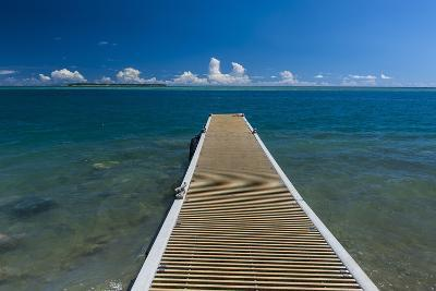 Pier with Cocos Island in the Background, Guam, Us Territory, Central Pacific-Michael Runkel-Photographic Print