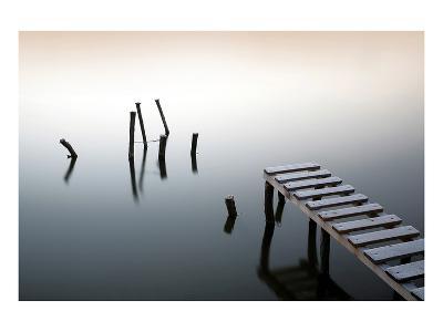Pier & Wooden Docks Morning--Art Print