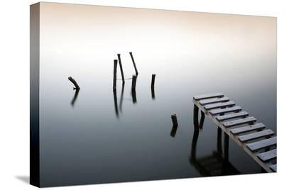Pier & Wooden Docks Morning--Stretched Canvas Print