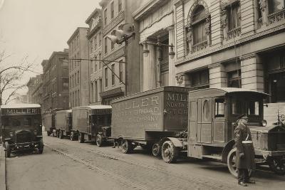Pierce Arrow Trucks, Miller North Broad Storage Company, Philadelphia Pa, C.1926--Photographic Print