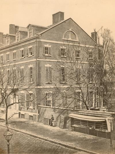 Pierce Butler Mansion, 8th and Chestnut Streets, C.1855--Photographic Print