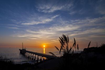 Pierfect Sunset Silhouette-Chris Moyer-Photographic Print