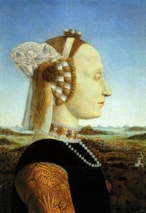 Portrait of Duchess, 1465 by Piero della Francesca