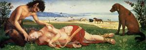 A Satyr Mourning over a Nymph, circa 1495 by Piero di Cosimo